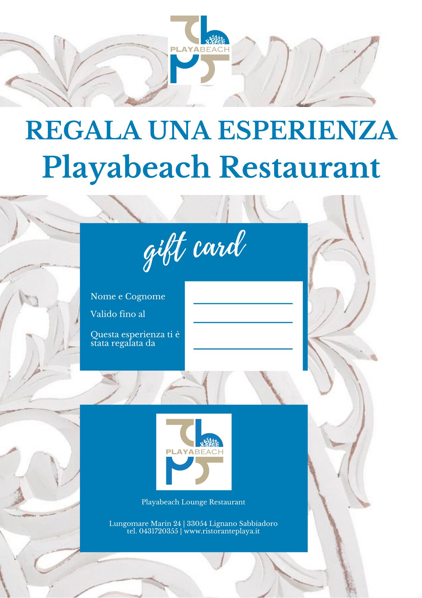 Regala una esperienza Playabeach